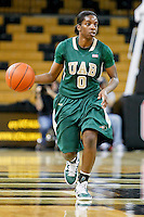 January 13, 2011: UAB guard LaShaunda Pratt (0) during second half Conference USA NCAA basketball game action between the UAB Blazers and the Central Florida Knights, Central Florida defeated UAB 65-55 at the UCF Arena Orlando, Fl.