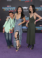 "HOLLYWOOD, CA - April 19: Ming-Na Wen, Michaela Zee, Cooper Dominic Zee, At Premiere Of Disney And Marvel's ""Guardians Of The Galaxy Vol. 2"" At The Dolby Theatre  In California on April 19, 2017. Credit: FS/MediaPunch"