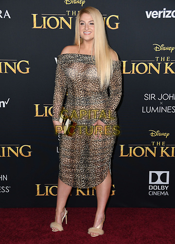 """09 July 2019 - Hollywood, California - Meghan Trainor. Disney's """"The Lion King"""" Los Angeles Premiere held at Dolby Theatre. <br /> CAP/ADM/BT<br /> ©BT/ADM/Capital Pictures"""