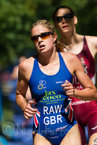 01 JUN 2013 - MADRID, ESP - Vanessa Raw (GBR) of Great Britain during the run at the elite women's ITU 2013 World Triathlon Series round in Casa de Campo, Madrid, Spain <br /> (PHOTO (C) 2013 NIGEL FARROW)