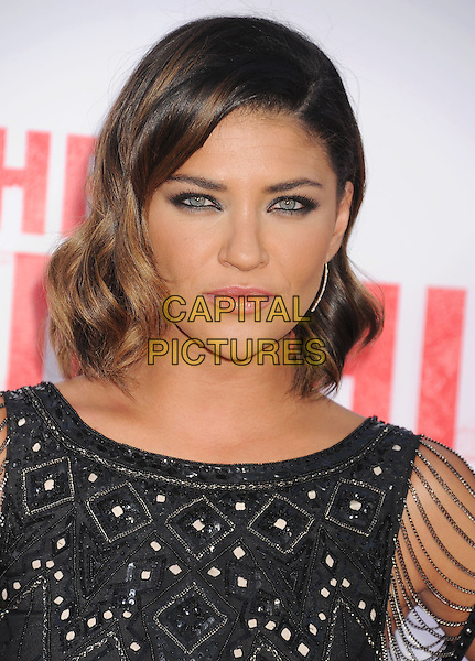 Jessica Szohr<br /> at the Los Angeles Premiere of &quot;The Internship&quot; at Regency Village Theatre in Westwood, California, USA, May 29th, 2013.<br /> portrait headshot makeup beauty eyeliner  black beaded sheer <br /> CAP/ROT/TM<br /> &copy;Tony Michaels/Roth Stock/Capital Pictures