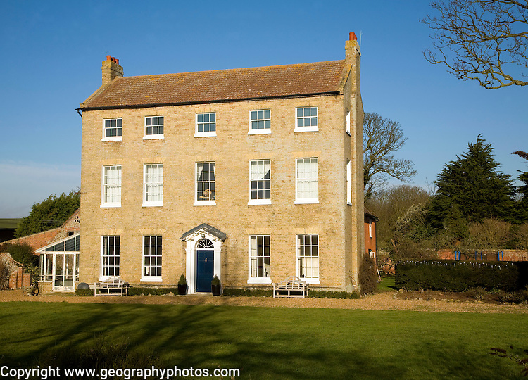 High House Farm, Georgian farmhouse building, Bawdsey, Suffolk, England