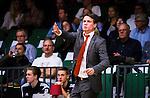S&ouml;dert&auml;lje 2014-10-01 Basket Basketligan S&ouml;dert&auml;lje Kings - Norrk&ouml;ping Dolphins :  <br /> Norrk&ouml;ping Dolphins tr&auml;nare head coach Lars Lasse Johansson gestikulerar<br /> (Foto: Kenta J&ouml;nsson) Nyckelord:  S&ouml;dert&auml;lje Kings SBBK T&auml;ljehallen Norrk&ouml;ping Dolphins portr&auml;tt portrait tr&auml;nare manager coach
