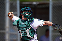 Dartmouth Big Green catcher Adam Gauthier (18) during a game against the Iowa Hawkeyes on February 27, 2016 at South Charlotte Regional Park in Punta Gorda, Florida.  Iowa defeated Dartmouth 4-1.  (Mike Janes/Four Seam Images)