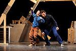 A PETITS PAS....De Jasques Pasquet et Francine Caron..Chorégraphie Jacques Fargearel en collaboration avec les interprètes..Avec Marc Marchand, Hugo Issaly..Compagnie du Sillage..Lumières :..Décors :..Lieu : Centre culturel Aragon Triolet..Ville : Orly..le 30/11/2011..© Laurent Paillier / photosdedanse.com..All rights reserved