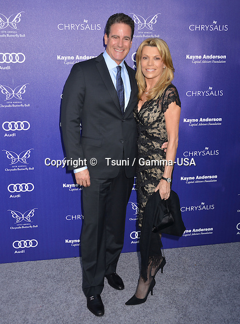 George Santo Pietro, Vanna White  at the 13th Chrysalis Butterfly Ball in Brentwood Private Mandeville Canyon state in Los Angeles.