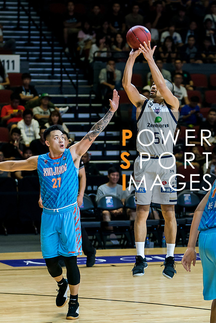 Ryuku Golden Kings vs Xinjiang Flying Tigers during The Asia League's 'The Terrific 12' at Studio City Event Center on 19 September 2018, in Macau, Macau. Photo by Win Chung Jacky Tsui / Power Sport Images for Asia League