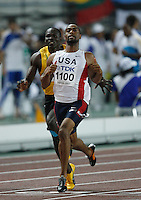 Tyson Gay  ran 10.06sec. in the 2nd. round of the 100m on Saturday, August 25 2007. Photo by Errol Anderson,The Sporting Image.