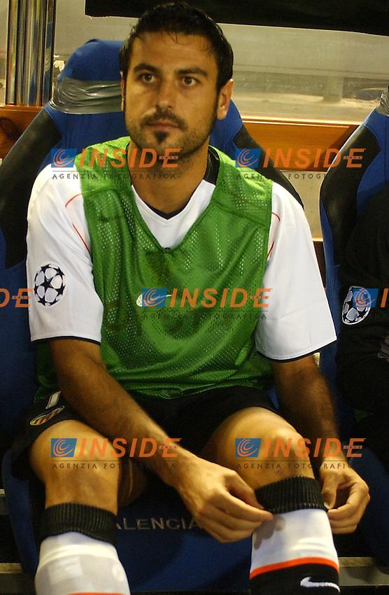 Stefano Fiore in Valencia, Spain September, 14, 2004.Champions League, Valencia v Anderlecht. Alvaro Hernandez Insidefoto