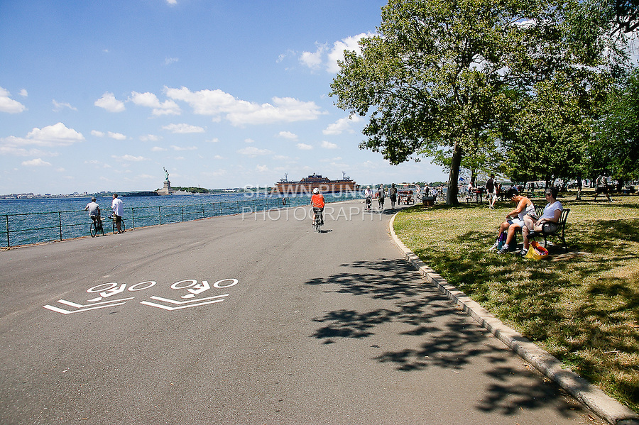 Viewing the Statue Of Liberty from Craig Rd. during my Governors Island bike ride on July 17, 2011. http://tinyurl.com/4342uth