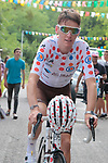 Polka Dot Jersey winner Romain Bardet (FRA) AG2R La Mondiale before the Criterium Castillon La Bataille 2019 the first criterium after the Tour de France held around Ville de Castillon-la-Bataille, France. 6th August 2019.<br /> Picture: Colin Flockton | Cyclefile<br /> All photos usage must carry mandatory copyright credit (© Cyclefile | Colin Flockton)