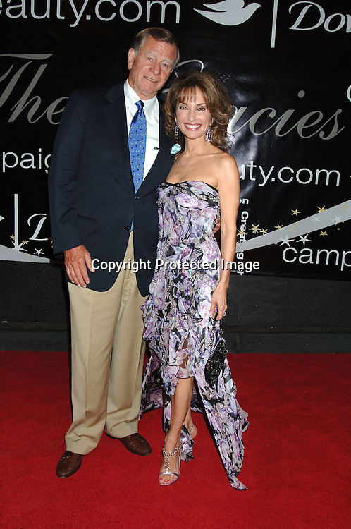 Susan Lucci and husband Helmet Huber..arriving at The 31st Annual American Women in Radio & Television's Gracie Allen Awards on June 19, 2006 at..The Marriott Marquis Hotel. ..Robin Platzer, Twin Images