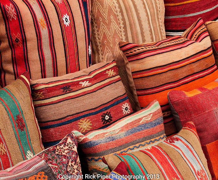 Turkish Cushions 02 - Turkish cushions at Arasta Bazaar, Sultanahmet, Istanbul, Turkey