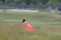 Harry Ellis (AM)(ENG) prepares to play his 2nd shot from a fairway bunker on the 8th hole during Friday's Round 2 of the 118th U.S. Open Championship 2018, held at Shinnecock Hills Club, Southampton, New Jersey, USA. 15th June 2018.<br /> Picture: Eoin Clarke | Golffile<br /> <br /> <br /> All photos usage must carry mandatory copyright credit (&copy; Golffile | Eoin Clarke)
