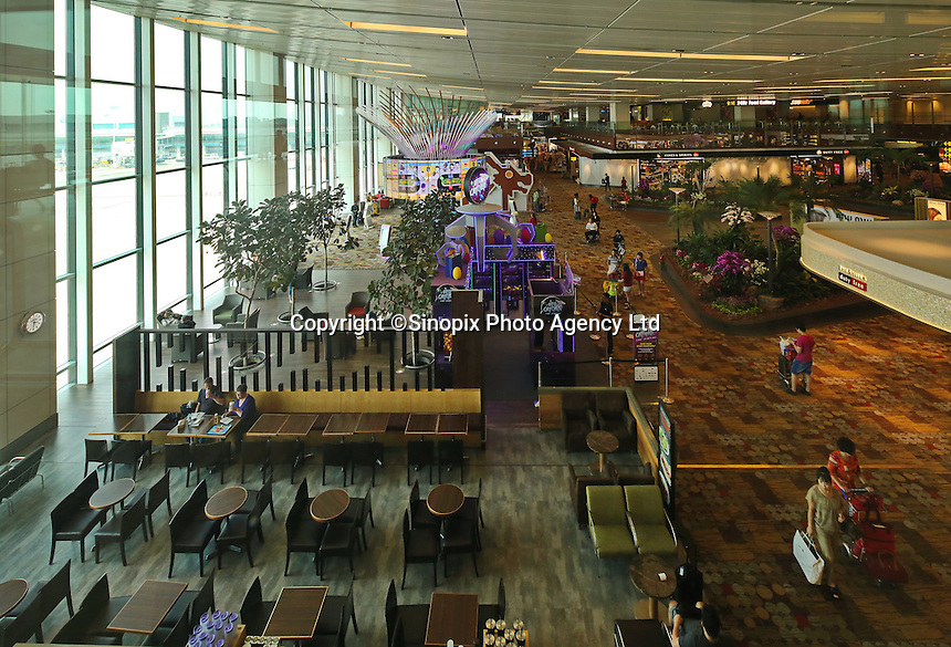 Departure Lounge, Changi airport, Terminal 1, Singapore, 13 August 2015.