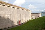 External walls of Nothe Fort built in 1872 Weymouth, Dorset, England