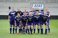 20170513 - MECHELEN , BELGIUM : Anderlecht's line up pictured with Heleen Jaques , Diede Lemey , Ella Van Kerkhoven , Charlotte Tison , Marlies Verbruggen , Nicky Van Den Abbeele , Yana Daniels , Lola Wajnblum , Laura De Neve , Tine De Caigny and Justine Blave  during the final of Belgian cup 2017 , a womensoccer game between RSC Anderlecht and KAA Gent Ladies , in the AFAS stadion in Mechelen , saturday 13 th Mayl 2017 . PHOTO SPORTPIX.BE | BELGA |  DAVID CATRY