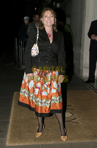 JANET ELLIS.Carol Keating Memorial Dinner, Savoy Hotel, London, October 4th 2004..full length orange patterned skirt.Ref: AH.www.capitalpictures.com.sales@capitalpictures.com.©Capital Pictures.