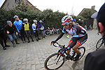 Fabian Cancellara (SUI) Radioshack Leopard Trek at the top of the cobbled climb of Paterberg during the 56th edition of the E3 Harelbeke, Belgium, 22nd  March 2013 (Photo by Eoin Clarke 2013)