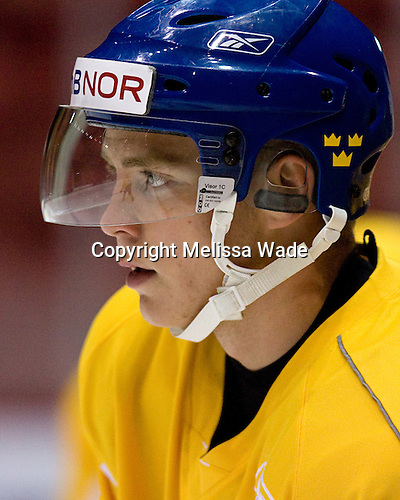 Unknown - Team Sweden takes the ice for practice following US Team White in the foggy 1980 Rink in Lake Placid, New York, during the Summer Hockey Challenge on Tuesday, August 7, 2007.