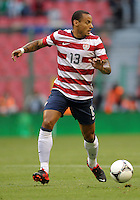 MEXICO CITY, MEXICO - AUGUST 15, 2012:  Jermaine Jones (13) of the USA MNT during an international friendly match against Mexico at Azteca Stadium, in Mexico City, Mexico on August 15. USA won 1-0.