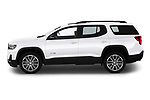 Car driver side profile view of a 2020 GMC Acadia AT4 5 Door SUV