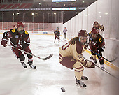 Haley Mullins (Harvard - 26), Kali Flanagan (BC - 10), Sydney Daniels (Harvard - 25), Caitrin Lonergan (BC - 11) - The Boston College Eagles defeated the Harvard University Crimson 3-1 on Tuesday, January 10, 2017, at Fenway Park in Boston, Massachusetts.The Boston College Eagles defeated the Harvard University Crimson 3-1 on Tuesday, January 10, 2017, at Fenway Park.