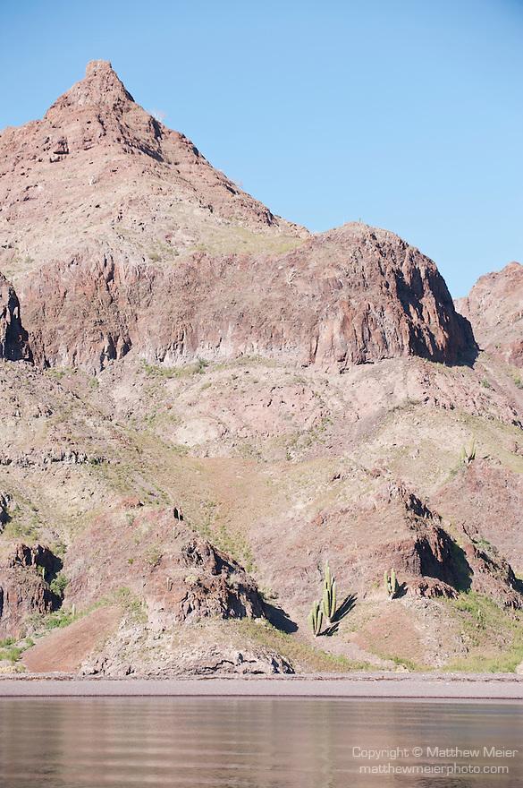 Sea of Cortez, Baja California, Mexico; the rocky hillside of Angel Island in Lolo's Cove
