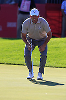 Sergio Garcia (ESP) (Team Europe) on the 9th green during Saturday afternoon Fourball at the Ryder Cup, Hazeltine National Golf Club, Chaska, Minnesota, USA.  01/10/2016<br /> Picture: Golffile | Fran Caffrey<br /> <br /> <br /> All photo usage must carry mandatory copyright credit (&copy; Golffile | Fran Caffrey)