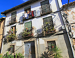 Traditional architecture of house in village of Cuacos de Yuste, La Vera, Extremadura, Spain