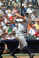 Trenton Thunder left fielder Cody Johnson #44 at bat during a game against the Richmond Flying Squirrels at The Diamond on May 27, 2012 in Richmond, Virginia. Richmond defeated Trenton by the score of 5-2. (Robert Gurganus/Four Seam Images)