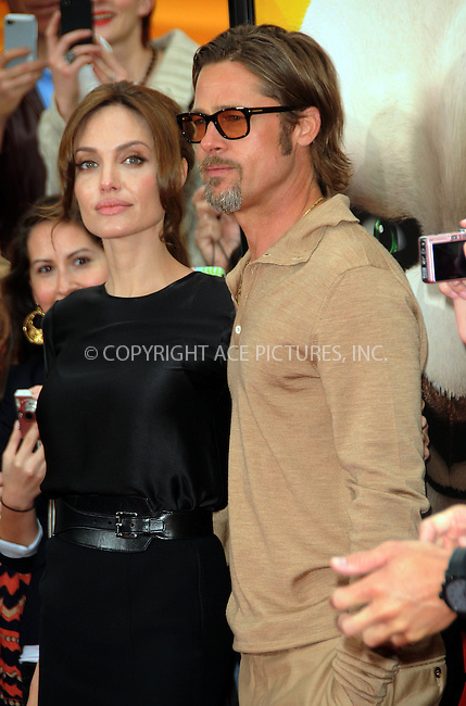 WWW.ACEPIXS.COM . . . . .  ....May 22 2011, LA....Actors Angelina Jolie and Brad Pitt arriving at the premiere of  'Kung Fu Panda 2' at Mann's Chinese Theatre on May 22, 2011 in Hollywood, California....Please byline: PETER WEST - ACE PICTURES.... *** ***..Ace Pictures, Inc:  ..Philip Vaughan (212) 243-8787 or (646) 679 0430..e-mail: info@acepixs.com..web: http://www.acepixs.com