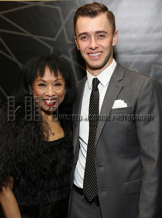 """Baayork Lee and Matthew Couvillon attends the New York City Center Celebrates 75 Years with a Gala Performance of """"A Chorus Line"""" at the City Center on November 14, 2018 in New York City."""