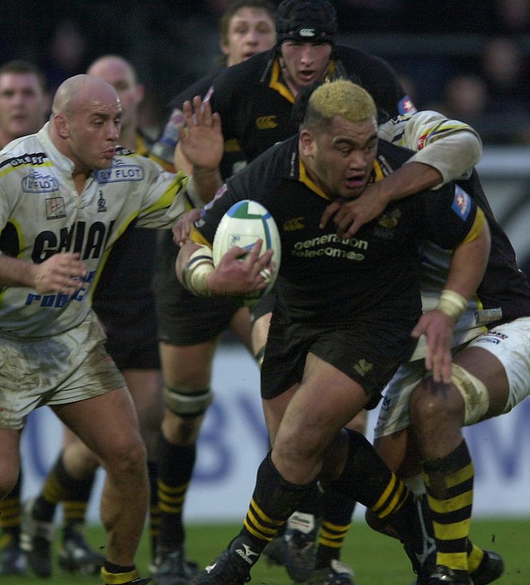 Photo. © Peter Spurrier/Richard Lane Photography.Heineken Cup 25/01/2004 Wasps v Calvisano.1st leg..Trevor Loeta..
