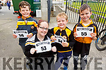 """Rocco, Jenny and Cody McMahon and Oliver Blizniuk at the Paul Lucey Memorial """"Run for the Rock"""" in the Austin Stack GAA Club on Monday morning."""