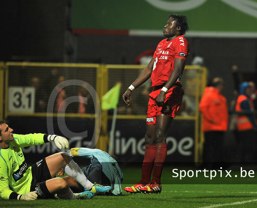 KV Kortrijk - KV Oostende : Elimane Coulibaly scoort de 2-0 tegen Oostende<br /> foto VDB / Bart Vandenbroucke