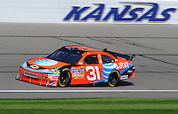 Sept. 27, 2008; Kansas City, KS, USA; Nascar Sprint Cup Series driver Jeff Burton during practice for the Camping World RV 400 at Kansas Speedway. Mandatory Credit: Mark J. Rebilas-