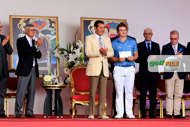Paul Dunne (IRL) in action during the final round of the Troph&eacute;e Hassan II played on the Red Course, Royal Golf Dar Es Salam, Rabat, Morocco 13-16 April 2017.<br /> 16/04/2017.<br /> Picture: Golffile | Phil Inglis<br /> <br /> <br /> All photo usage must carry mandatory copyright credit (&copy; Golffile | Phil Inglis)
