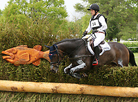 LEXINGTON, KY - April 29, 2017.  #54 Fischerrocana FST and Michael Jung from Germany finish in 1st place after completeing the Cross Country Course at the Rolex Three Day Event at the Kentucky Horse Park.  Lexington, Kentucky. (Photo by Candice Chavez/Eclipse Sportswire/Getty Images)