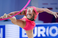 NEVIANA VLADINOVA of Bulgaria performs with ribbon at 2016 European Championships at Holon, Israel on June 18, 2016.