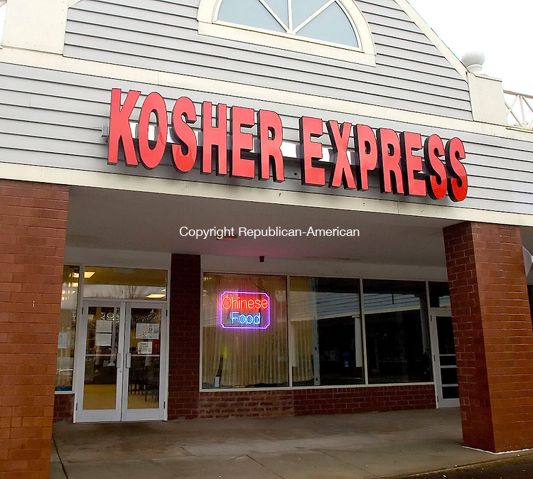 NEW HAVEN, CT- 08 JAN 06- 010807JT03- <br /> Kosher Express, a Chinese food restaurant in New Haven in which Rabbi Natanal Zilberman works full-time.<br /> Josalee Thrift Republican-American