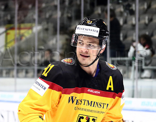 11th November 2017, Curt Frenzel Stadium, Augsburg, Germany; 2017 Deutschland Cup, Germany versus Slovakia; Moritz MUELLER (Germany)