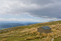Small mountain shelter near the top of Mt. Roberts, New Zealand