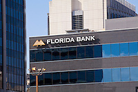 Florida Bank logo is seen on a building in Jacksonville, Florida Friday April 26, 2013.