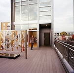 Project 4 Gallery located at U and 14th Street features contemporary art in a modern architectural space that features a green roof.