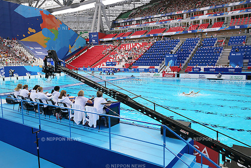 General view, JULY 28, 2015 - Synchronised Swimming : 16th FINA World Championships Kazan 2015 Duets Free Routine Preliminary at Kazan Arena in Kazan, Russia. (Photo by Yohei Osada/AFLO SPORT)