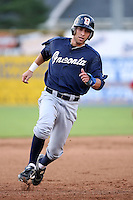 July 23 2008:  Ben Guez of the Oneonta Tigers, Class-A affiliate of the Detroit Tigers, during a game at Dwyer Stadium in Batavia, NY.  Photo by:  Mike Janes/Four Seam Images