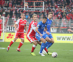 01.12.2018, Stadion an der Wuhlheide, Berlin, GER, 2.FBL, 1.FC UNION BERLIN  VS.SV Darmstadt 98, <br /> DFL  regulations prohibit any use of photographs as image sequences and/or quasi-video<br /> im Bild Sebastian Andersson (1.FC Union Berlin #10), Slobodan Medojevic (Darmstadt #5)<br /> <br /> <br />      <br /> Foto &copy; nordphoto / Engler