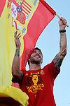 02.07.2012. Sergio Ramos during Tour of Madrid of the Spanish football team to celebrate their victory in Euro 2012 july 2012.(ALTERPHOTOS/ARNEDO)