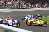 May 28th Indianapolis Speedway, Indiana, USA; The 101st Indianapolis 500 on May 28th, 2017 at the Indianapolis Motor Speedway in Indianapolis, IN.  #98 ALEXANDER ROSSI (USA) ANDRETTI HERTA AUTOSPORT W/CURB-AGAJANIAN (USA) HONDA
